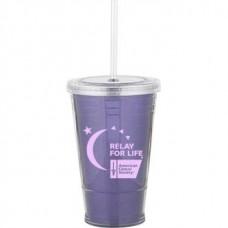 Purple Slurpy With Ultra Insert   16 oz