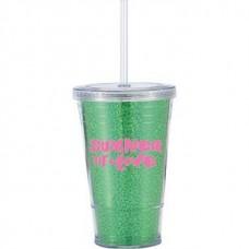 Green Slurpy With Disco Insert | 16 oz