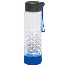 Blue 20 oz Geometric Glass Water Bottles