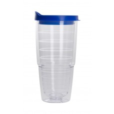 Clear with Blue Lid The Pacifico Insulated Tumblers | 20 oz