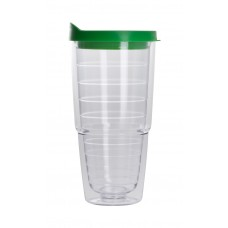 Green The Pacifico Insulated Tumblers | 20 oz - Clear with Green Lid
