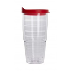 Red The Pacifico Insulated Tumblers | 20 oz - Clear with Red Lid