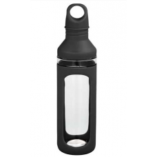 Black 20 oz Hover Glass Water Bottles