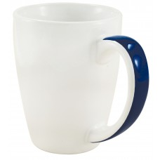 White with Blue Stripe Java Stripe Mugs | 12 oz