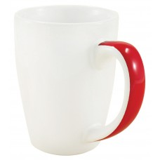 White with Red Stripe Java Stripe Mugs | 12 oz