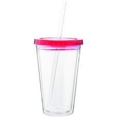 Red 16 oz spirit tumbler with color lid