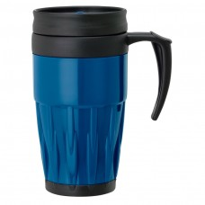 Blue Double Wall PP Mugs | 14 oz