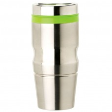 Green Stainless Steel Tumblers | 14 oz - Stainless Steel with Green Lid and Band