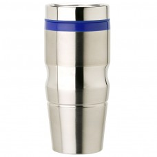 Stainless Steel with Blue Lid and Band Stainless Steel Tumblers | 14 oz