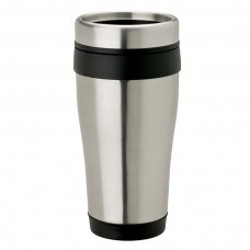 Black Stainless Steel Tumblers | 14 oz - Stainless Steel with Black Band