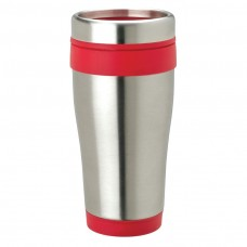 Red Stainless Steel Tumblers | 14 oz - Stainless Steel with Red Band