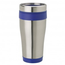 Stainless Steel with Blue Band Stainless Steel Tumblers | 14 oz