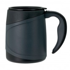 Microwavable Double Wall Mugs | 15 oz - Grey