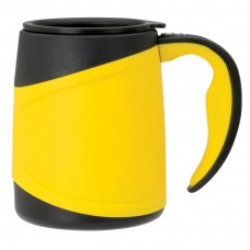 Yellow Microwavable Double Wall Mugs | 15 oz
