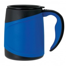 Blue Microwavable Double Wall Mugs | 15 oz
