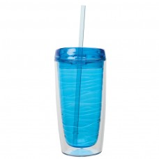 Light Blue Hot / Cold AS Tumblers   16 oz