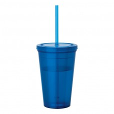 Blue Tumblers & Straw | 16 oz