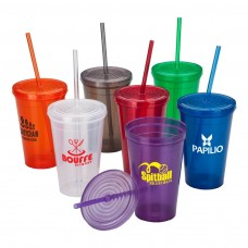 Branded Tumbler With Straw | 16 oz