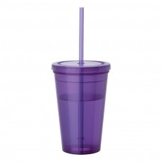 Purple Tumblers & Straw | 16 oz
