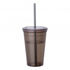 Black Tumblers & Straw | 16 oz - Smoke