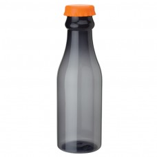 Orange PP Water Bottles | 23 oz - Smoky Bottles with Orange Bottles Cap
