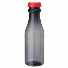 Red PP Water Bottles | 23 oz - Smoky Bottles with Red Bottles Cap