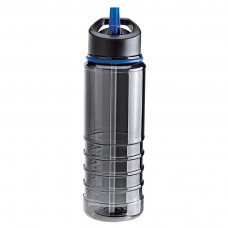 Charcoal Bottles with Blue Drinking Spout Tritan Water Bottles| 25 oz