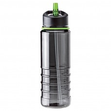 Green Tritan Water Bottles| 25 oz - Charcoal Bottles with Green Drinking Spout