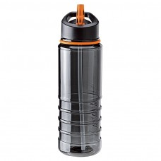 Orange Tritan Water Bottles| 25 oz - Charcoal Bottles with Orange Drinking Spout
