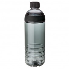 Black Tritan Water Bottles | 25 oz - Smoky Bottles with Black Band