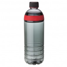 Red Tritan Water Bottles | 25 oz - Smoky Bottles with Red Band