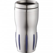 Stainless Steel with Blue Rubber Grip Tech Tumblers | 14 oz