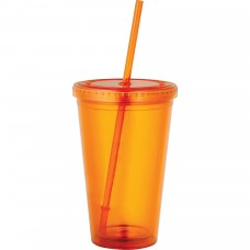 Orange Sedici Tumblers | 16 oz