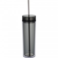 Black Hot & Cold Skinny Tumblers | 15 oz
