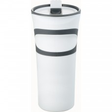 White Groovy Double-Wall Tumblers | 18 oz