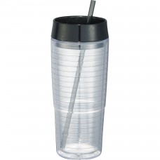 Black Hot and Cold Swirl Double-Wall Tumblers | 20 oz