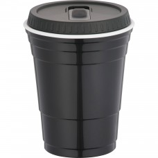 Black Game Day Cup With Lid | 16 oz