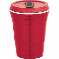 Red Game Day Cup With Lid | 16 oz
