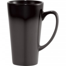 Black Cafe Tall Latte Ceramic Mugs | 14 oz