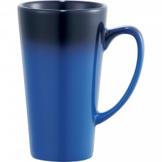 Blue Cafe Tall Latte Ceramic Mugs | 14 oz