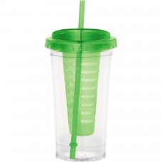 Green Personalized Fruit Infuser Tumblers | 24 oz