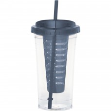Personalized Fruit Infuser Tumblers | 24 oz - Grey