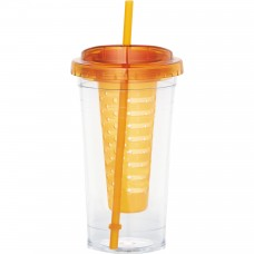 Orange Personalized Fruit Infuser Tumblers | 24 oz