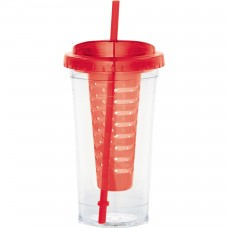 Red Personalized Fruit Infuser Tumblers | 24 oz