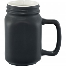 Black Ceramic Mason Jar | 16 oz