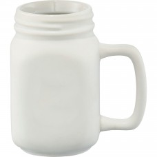 White Ceramic Mason Jar | 16 oz