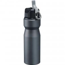 Black High Sierra Aluminum Bottles   24 oz - Smoke