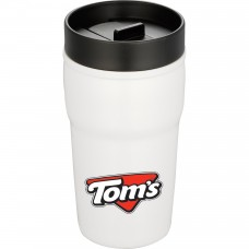 Double-Wall Ceramic Tumbler With Hard Lid | 10 oz