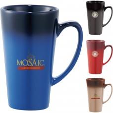Cafe Tall Latte Ceramic Mug   14 oz