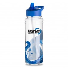 Blue 25 oz. Clear Wave Water Bottles|